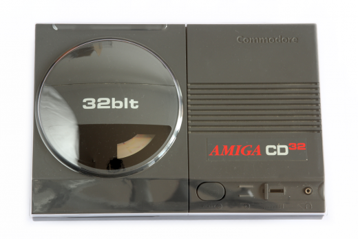 Transparent hard plastic dust cover for Amiga CD32