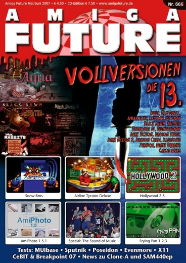 Amiga Future 66 (4.50 Euro) with Postage (1.80 Euro)