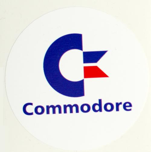 Aufkleber Commodore 50 mm