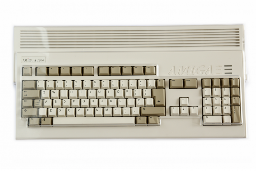 Transparent hard plastic dust cover for Amiga 1200
