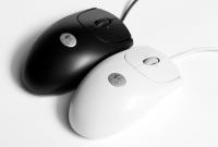 Logitech Maus optical mouse b/w