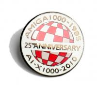 Amiga 25th Anniversary Anstecknadel