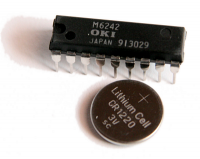 Uhrenchip OKI + Knopfbatterie