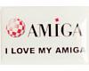 Gehäuseaufkleber I love my Amiga - Boing