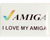 Gehäuseaufkleber I love my Amiga - Haken