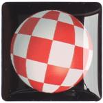 Gehäuseaufkleber Boingball 2 schwarz