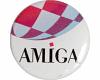 Gehäuseaufkleber Amiga-Boing rund