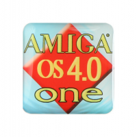 Gehäuseaufkleber Amiga OS 4 One