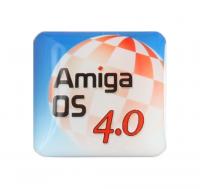Gehäuseaufkleber AmigaOS 4 + Boing