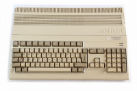Transparent hard plastic dust cover for Amiga 500