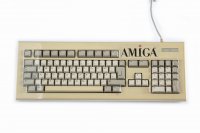 Transparent hard plastic dust cover for Amiga 2000 / 4000 keyboard